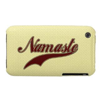 Namaste Stylish Red Burgundy iPhone 3 Case-Mate Cases