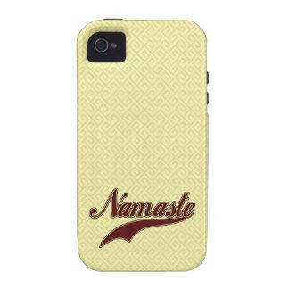 Namaste Stylish Red Burgundy Case-Mate iPhone 4 Cases