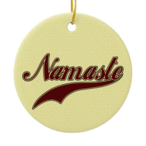 Namaste Stylish Red Burgundy Ceramic Ornament