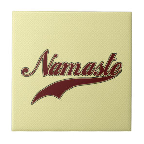 Namaste Stylish Red Burgundy Ceramic Tile