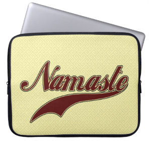 Namaste Stylish Red Burgundy Computer Sleeve