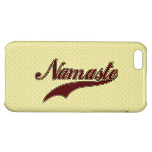 Namaste Stylish Red Burgundy Cover For iPhone 5C