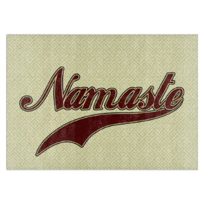 Namaste Stylish Red Burgundy Cutting Board