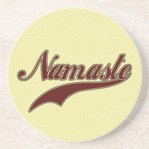 Namaste Stylish Red Burgundy Drink Coaster