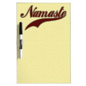 Namaste Stylish Red Burgundy Dry-Erase Board