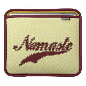 Namaste Stylish Red Burgundy iPad Sleeve