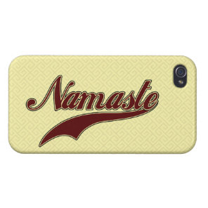 Namaste Stylish Red Burgundy iPhone 4 Cover