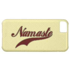 Namaste Stylish Red Burgundy iPhone 5C Case