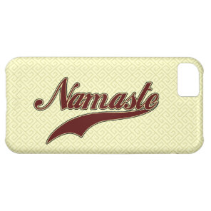 Namaste Stylish Red Burgundy iPhone 5C Cover