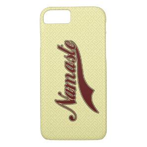 Namaste Stylish Red Burgundy iPhone 7 Case