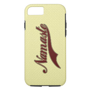 Namaste Stylish Red Burgundy iPhone 7 Case