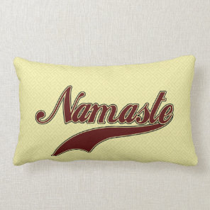 Namaste Stylish Red Burgundy Lumbar Pillow