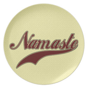 Namaste Stylish Red Burgundy Melamine Plate