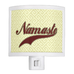 Namaste Stylish Red Burgundy Night Light