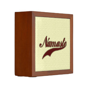 Namaste Stylish Red Burgundy Pencil/Pen Holder