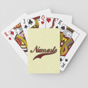 Namaste Stylish Red Burgundy Playing Cards