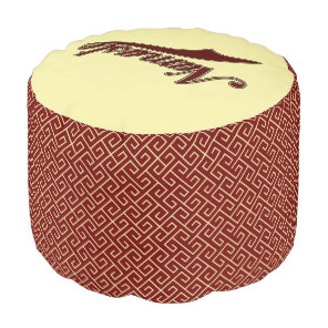 Namaste Stylish Red Burgundy Pouf