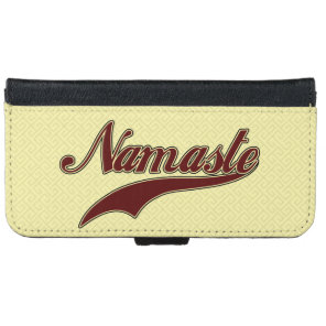 Namaste Stylish Red Burgundy square spiral iPhone 6/6s Wallet Case