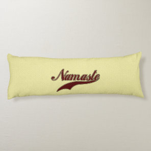 Namaste Stylish Red Burgundy square spiral pattern Body Pillow