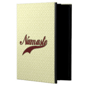 Namaste Stylish Red Burgundy square spiral pattern iPad Air Case