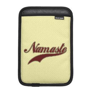 Namaste Stylish Red Burgundy square spiral pattern iPad Mini Sleeve