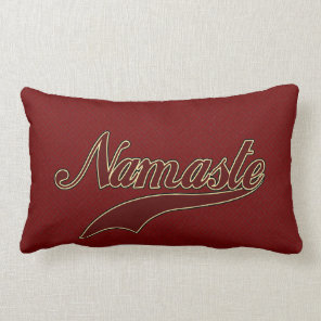 Namaste Stylish Red Burgundy square spiral pattern Lumbar Pillow