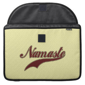 Namaste Stylish Red Burgundy square spiral pattern MacBook Pro Sleeve
