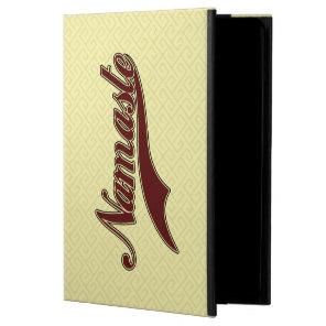 Namaste Stylish Red Burgundy square spiral pattern Powis iPad Air 2 Case