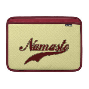 Namaste Stylish Red Burgundy square spiral pattern Sleeve For MacBook Air