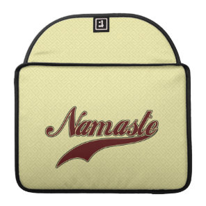 Namaste Stylish Red Burgundy square spiral pattern Sleeve For MacBook Pro