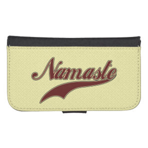 Namaste Stylish Red Burgundy square spiral Wallet Phone Case For Samsung Galaxy S4