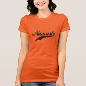Namaste Stylish Red Burgundy T-Shirt