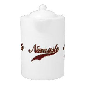 Namaste Stylish Red Burgundy Teapot