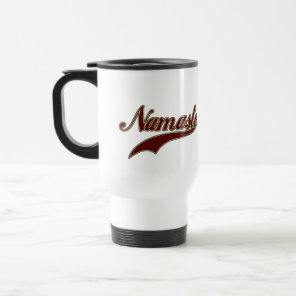 Namaste Stylish Red Burgundy Travel Mug