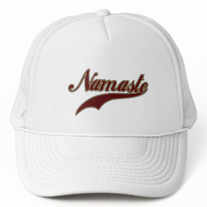 Namaste Stylish Red Burgundy Trucker Hat