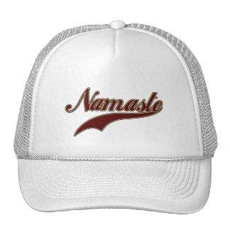 Namaste Stylish Red Burgundy Trucker Hat