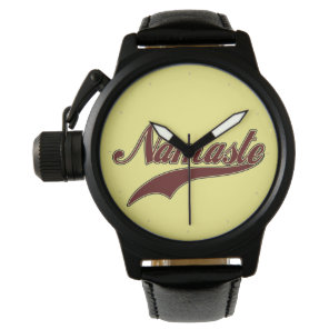 Namaste Stylish Red Burgundy Wristwatches