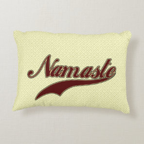 Namaste Stylish Red square spiral pattern Accent Pillow