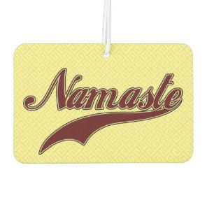 Namaste Stylish Red square spiral pattern Air Freshener