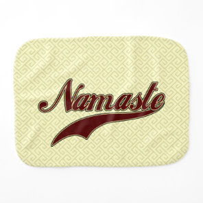 Namaste Stylish Red square spiral pattern Baby Burp Cloth