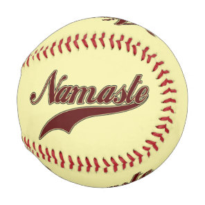 Namaste Stylish Red square spiral pattern Baseball