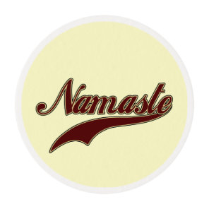 Namaste Stylish Red square spiral pattern Edible Frosting Rounds