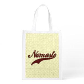 Namaste Stylish Red square spiral pattern Grocery Bag