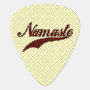 Namaste Stylish Red square spiral pattern Guitar Pick