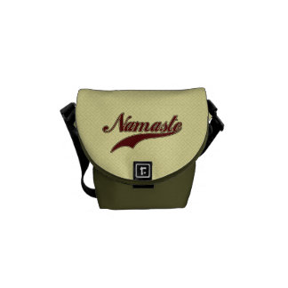 Namaste Stylish Red square spiral pattern Courier Bags