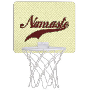 Namaste Stylish Red square spiral pattern Mini Basketball Hoop