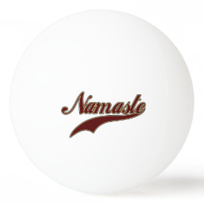 Namaste Stylish Red square spiral pattern Ping-Pong Ball