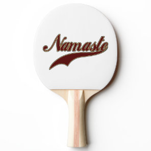 Namaste Stylish Red square spiral pattern Ping-Pong Paddle
