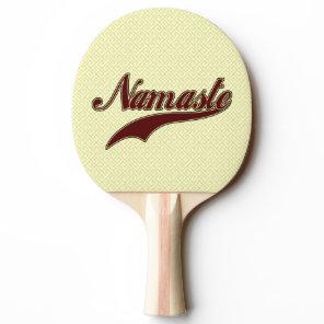 Namaste Stylish Red square spiral pattern Ping Pong Paddle