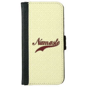 Namaste Stylish Red square spiral pattern Wallet Phone Case For iPhone 6/6s